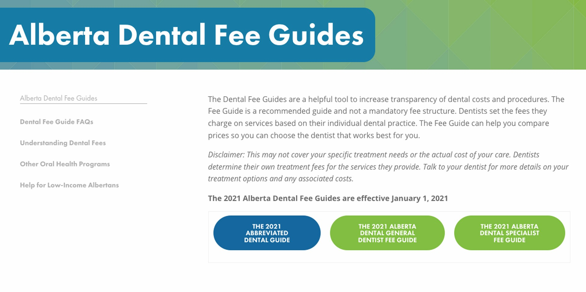 We Follow the latest Alberta Dental Association and College Fee Guide | SmileCode Dental | NW Calgary | General Dentist